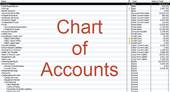 how to delete all chart of accounts in quickbooks