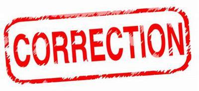 Correction Procedure