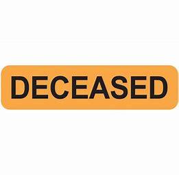 Deceased Income Tax Return