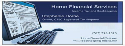 Online Income Taxes Horne Financial Services