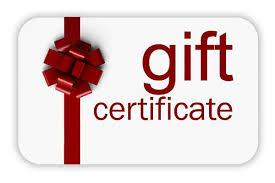 Stock Gift Certificate