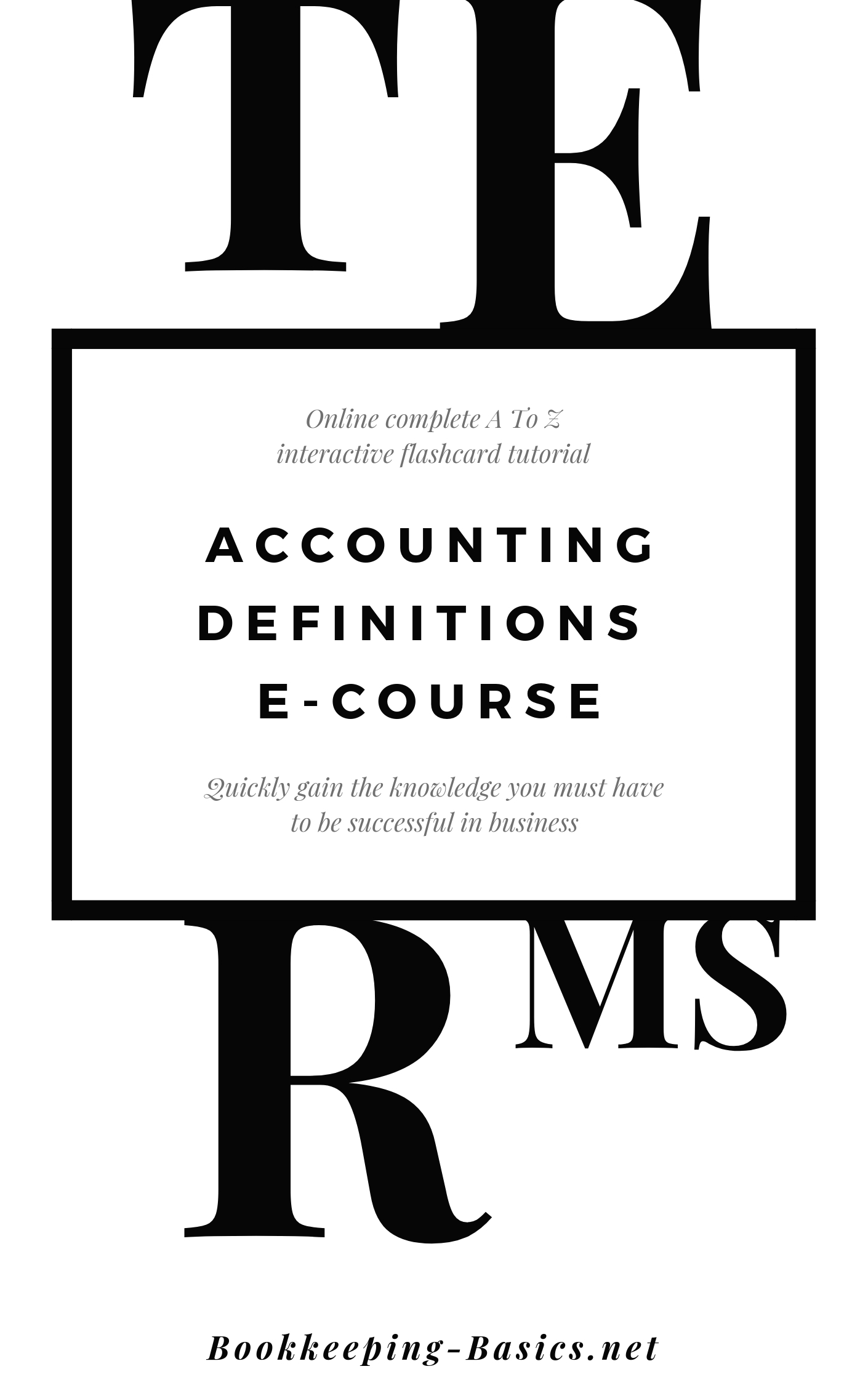 Accounting Definitions Ecourse